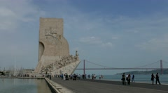 TL 4K Portugal Lisbon Lisboa Monument to the Discoveries Padrao dos Stock Footage