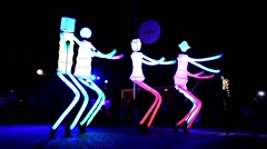 Big Dancers performed by El Carromato from Spain Stock Footage