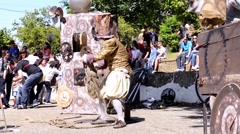 The Lost Wheels of Time performed by Serious Clowns from United Kingdom, Germany - stock footage