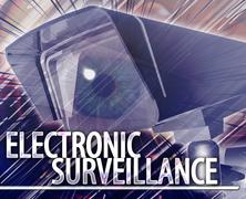 Electronic surveillance Abstract concept digital illustration Stock Illustration