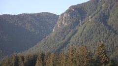 Grouse Mountain Close Up Gondola Stock Footage