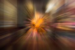 Brown color radial motion blur abstract of buddhist monk wax model Stock Illustration