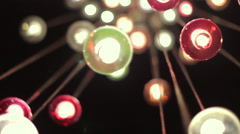 Shining Lights on Modern Lamp Stock Footage