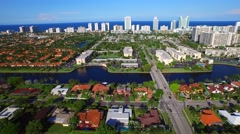 Aerial Hallandale FL Stock Footage