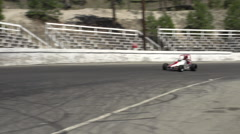 Motor sports, single sprint car follow shot, medium Stock Footage
