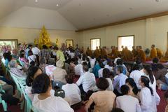 Thailand people participate in annual merit-making ceremony Stock Photos