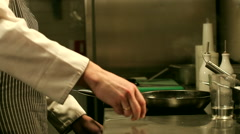 Chef Cooking Flambe Dish Stock Footage