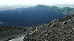 the landscape of mount Etna - stock footage