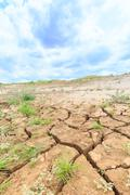 Stock Photo of surface crack of soil in arid area