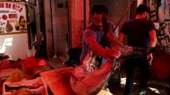 swordfish shares on the market - stock footage