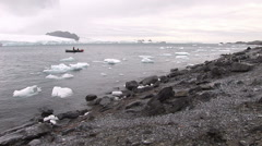 Ice Bergs and Snow of an Antarctic Landscape in Hope Bay Stock Footage