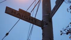 Haight & Ashbury Street Sign Stock Footage
