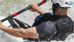 Playboating Kayak In Whitewater Ocoee Closeup Stock Footage