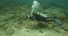 Underwater Photographer Caesarea 4K Stock Footage
