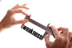 Small weakness - stock photo