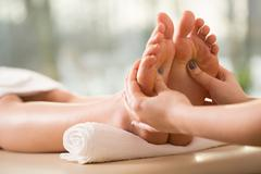 Close-up of reflexology Stock Photos