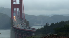 Golden Gate Bridge Traffic Time-lapse Stock Footage