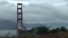 Golden Gate Bridge Wide Time-lapse Stock Footage