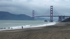 Baker Beach Recreation Stock Footage