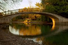 Michigan Park Walk Bridge - stock photo