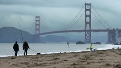 Baker Beach Dog Run Stock Footage