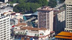 KUALA LUMPUR, MALAYSIA - CIRCA FEB 2015: The city's monorail transit system, Stock Footage