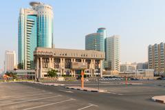 Land department goverment building of Dubai - stock photo