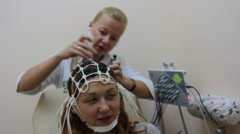 EEG: Electroencephalography devise in work (on dolly) Stock Footage