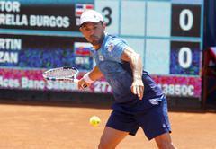 Dominican tennis player Victor Estrella Stock Photos