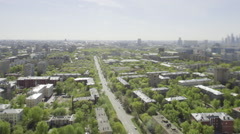 View from the top to Moscow Stock Footage