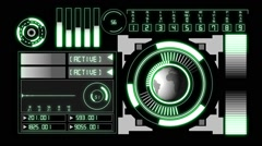 Futuristic Technology Interface data screen Stock Footage