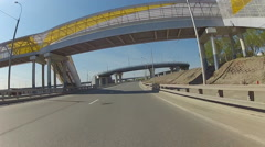 Car POV driving on city highway, Novosibirsk, Russia Stock Footage