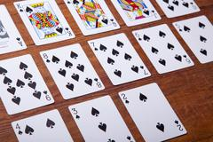 Set of Cards All the Spades Stock Photos