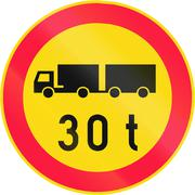 Lorry Weight Limit in Finland - stock illustration
