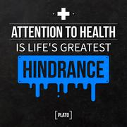 "Stock Illustration of Quote typographical background ""Attention to health is life's greatest hindra"