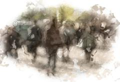 City commuters Stock Illustration