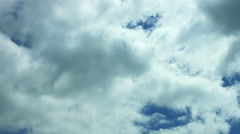 White clouds on blue sky Stock Footage