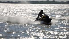 River Scooter Summer Water Action 2 Stock Footage