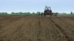 Seeder to work in the field Stock Footage