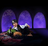 Arabian magic night - stock photo