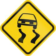 Slippery When Wet In Colombia Stock Illustration
