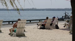 Beach in Toronto Canada Stock Footage