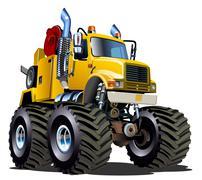Cartoon Monster Tow Truck Piirros