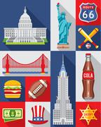 Vector Set of New York City - stock illustration
