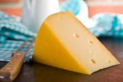 block of edam cheese - stock photo