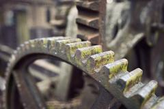 Rusty vintrage cogwheel Stock Photos