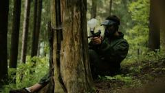 Paintball - montage Stock Footage