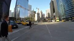 Walking on Clark Street Bridge in Chicago, Illinois Stock Footage