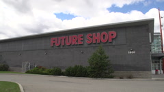 Stock Video Footage of Bankruptcy - Future shop exterior with no people