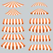 Orange White Tents Stock Illustration